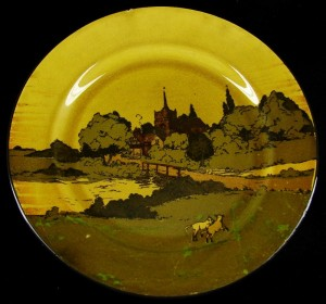 19th century Royal Doulton Rural Churches English landscape series D2846 Dinner Plate & 19th century Royal Doulton Rural Churches English landscape series ...